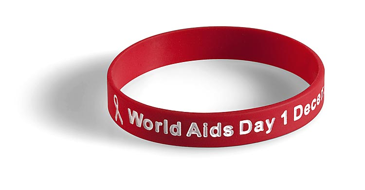 Aids Silicon Wristband. Aids Day Wristbands